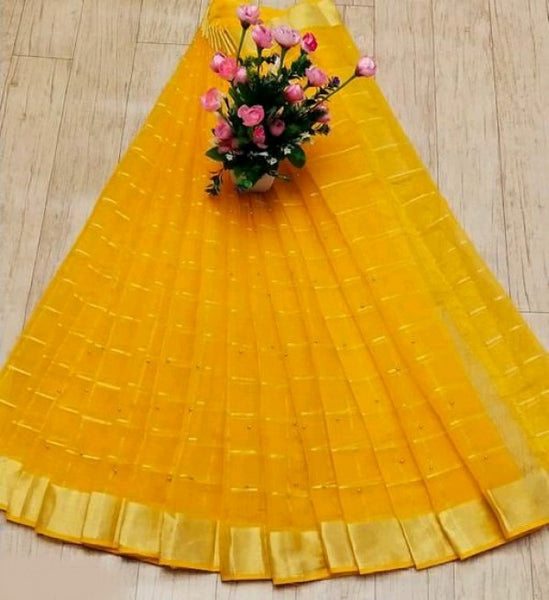 Yellow Kota Saree