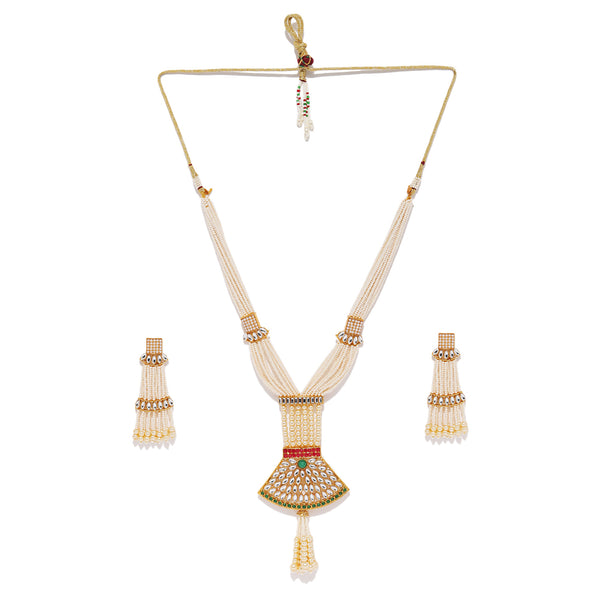 Pearl String Necklace Set