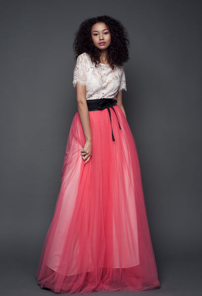 Custom Made Long Skirt and Top -WCMD004