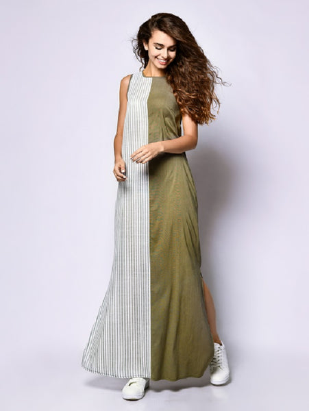 Custom Made Straight Full Length Maxi with Side Slit -WCMD002