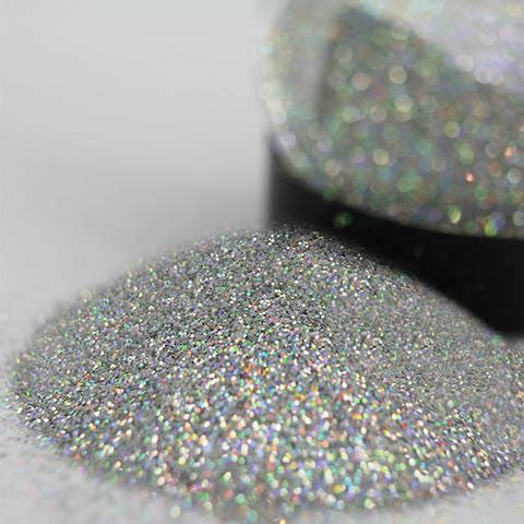 White Gold glitter Jar