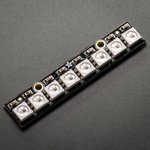 A product image of NeoPixel Stick - 8 x 5050 RGB LED with Integrated Drivers