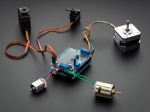A product image of Adafruit Motor/Stepper/Servo Shield for Arduino v2 Kit - v2.3