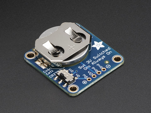 Adafruit 20mm Coin Cell Breakout w/On-Off Switch (CR2032)