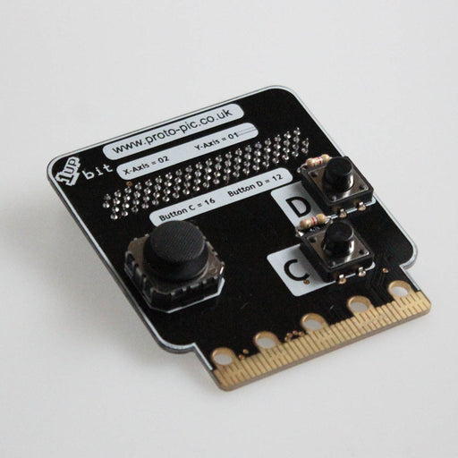 A product image of 1up:bit controller kit for BBC micro:bit