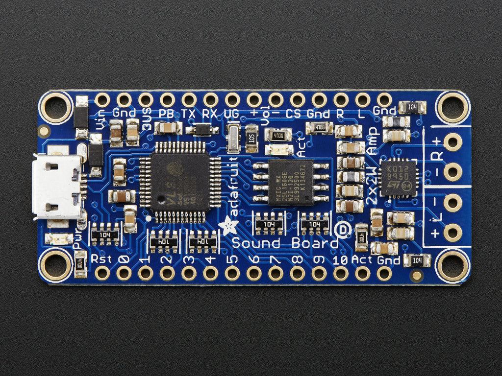 A product image of Adafruit Audio FX Sound Board - WAV/OGG Trigger