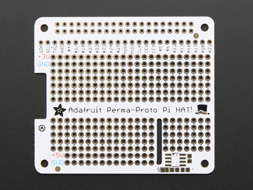 A product image of Adafruit Perma-Proto HAT for Pi Mini Kit