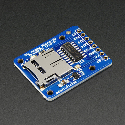 A product image of Adafruit microSD card breakout board