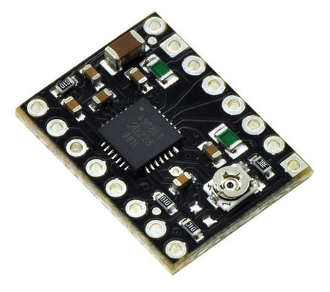 Pololu A4988 Stepper Motor Driver Carrier, Black Edition