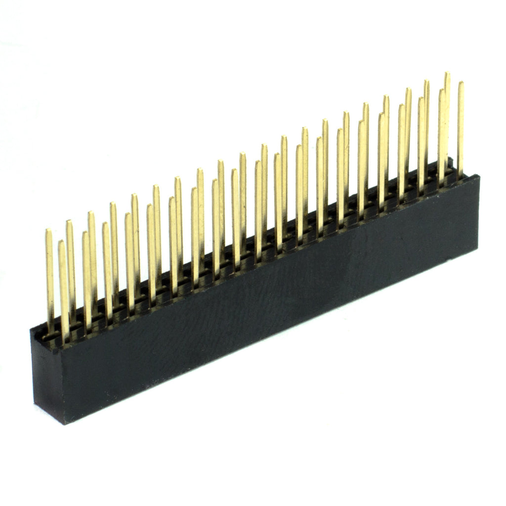 2x20 Pin Female GPIO Header für Raspberry Pi 3/2/B+/A+