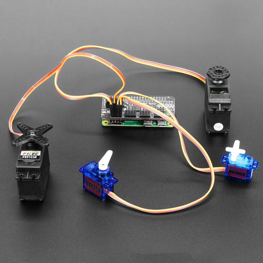 A product image of Adafruit 16-Channel PWM / Servo Bonnet for Raspberry Pi