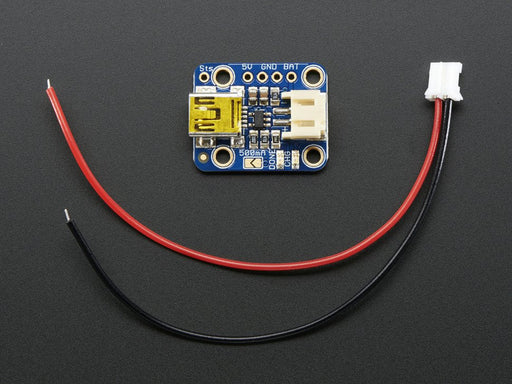 A product image of Adafruit Mini Lipo w/Mini-B USB Jack - USB LiIon/LiPoly charger - v1