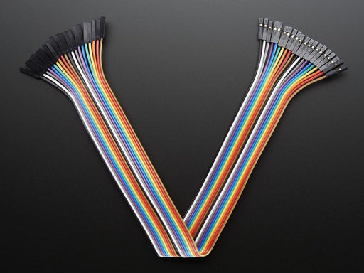 A product image of Premium Jumper Wires - 30cm (F/F, 20 pack)
