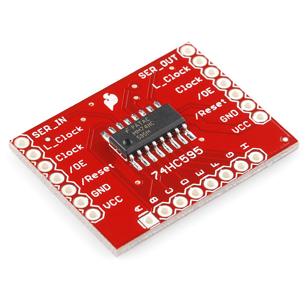 A product image of SparkFun Shift Register Breakout - 74HC595