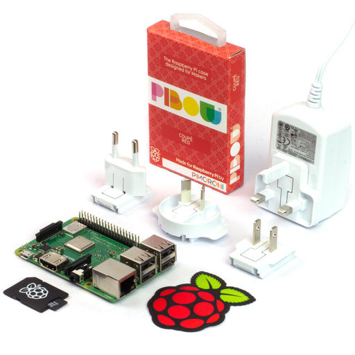 A product image of Raspberry Pi 3 B+ Essentials Kit