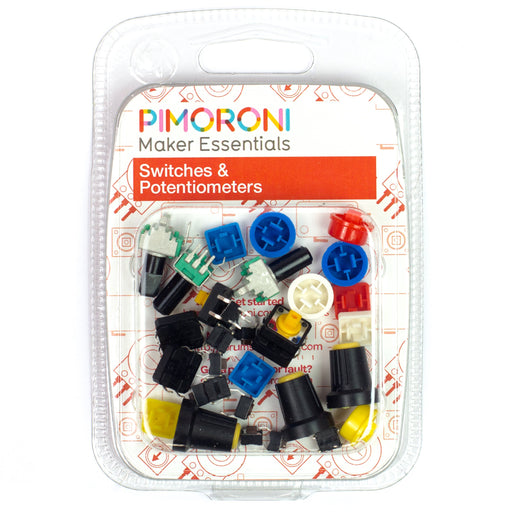 A product image of Maker Essentials - Switches & Potentiometers