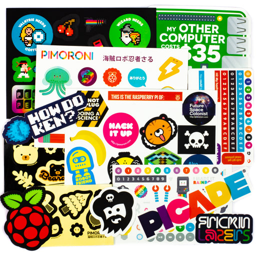 A product image of Pimoroni Super Sticker Selection