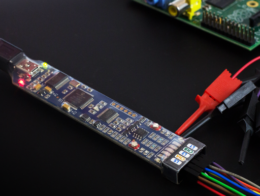 A product image of BitScope Micro - a mixed signal test & measurement system for Raspberry Pi