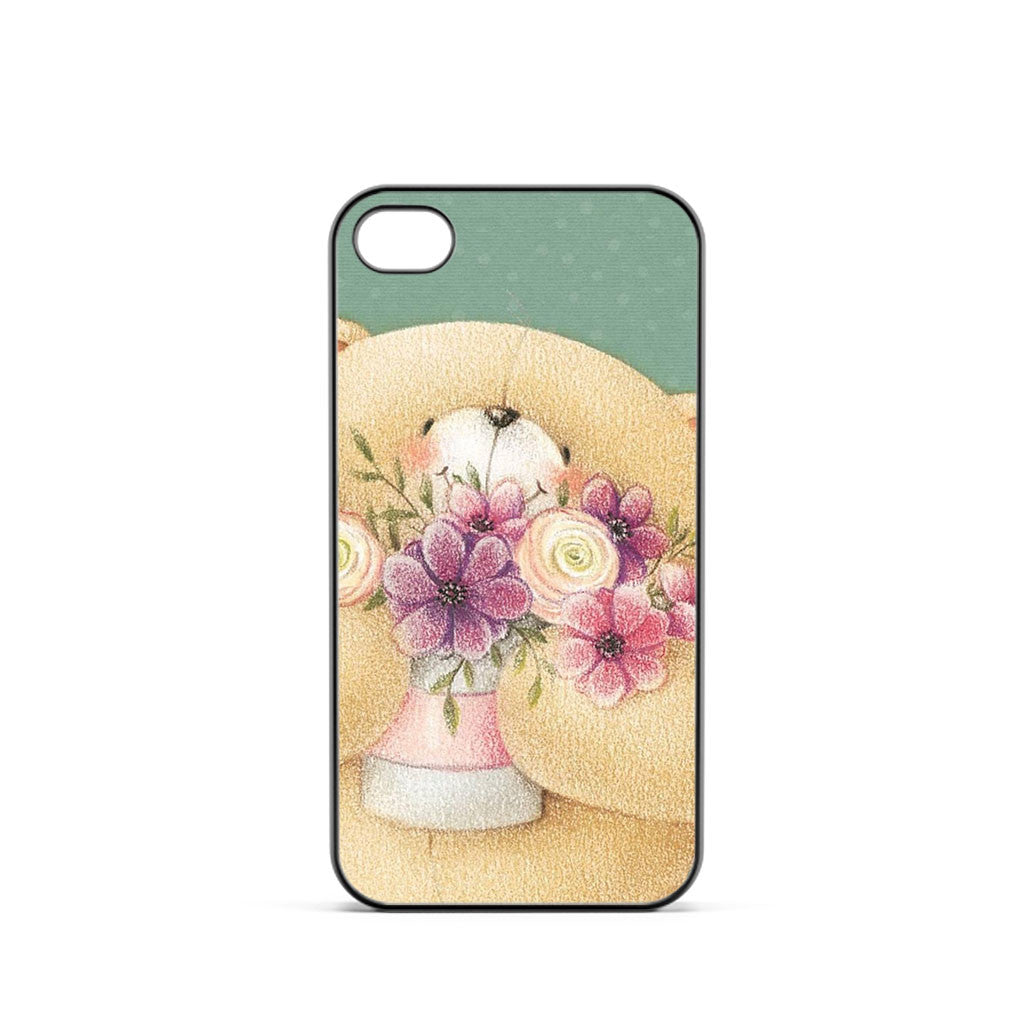 Teddy Bear Flower iPhone 4 / 4s Case