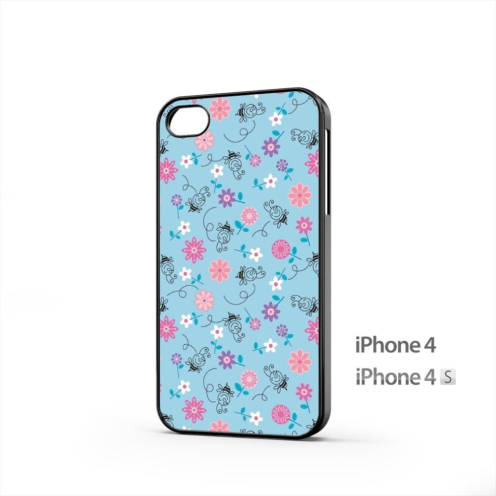 Bees And Flowers iPhone 4 / 4s Case