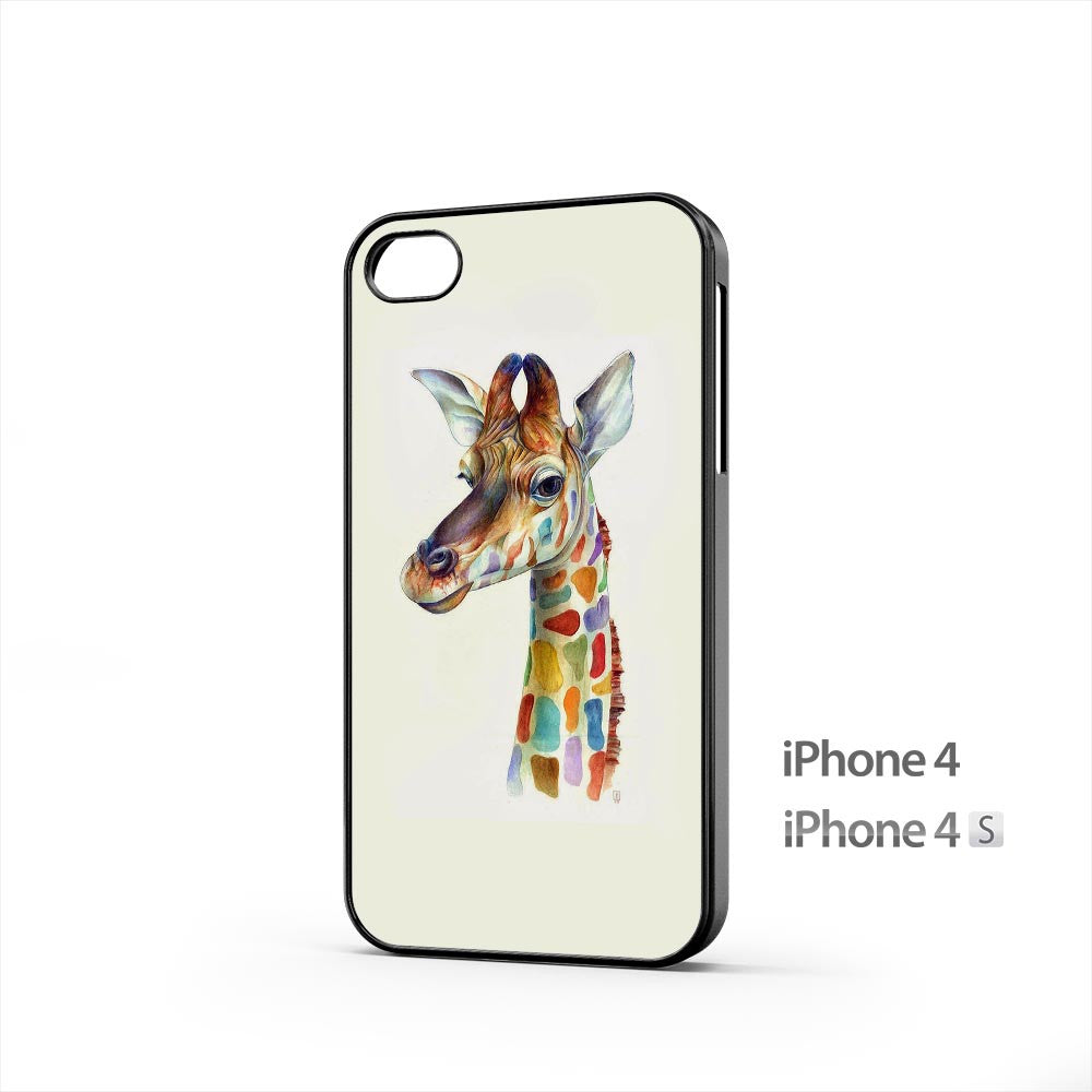 Friendly Giraffe Colorful iPhone 4 / 4s Case