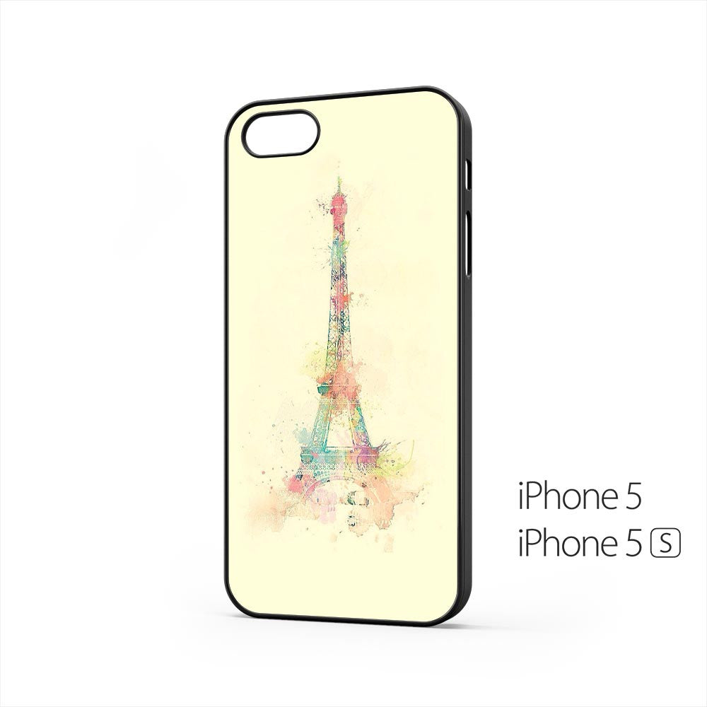 Eiffel Tower Watercolor Paint iPhone 5 / 5s Case