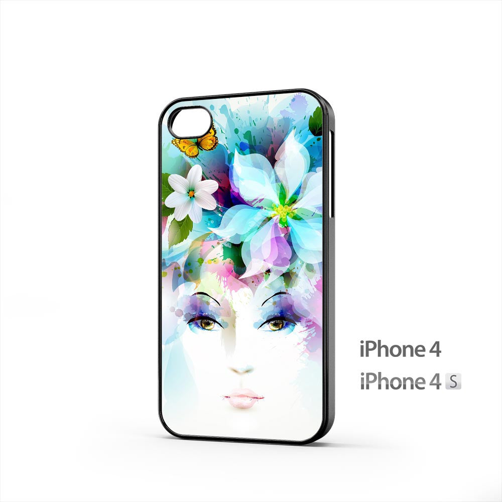 Girl Eyes Flowers Petals iPhone 4 / 4s Case