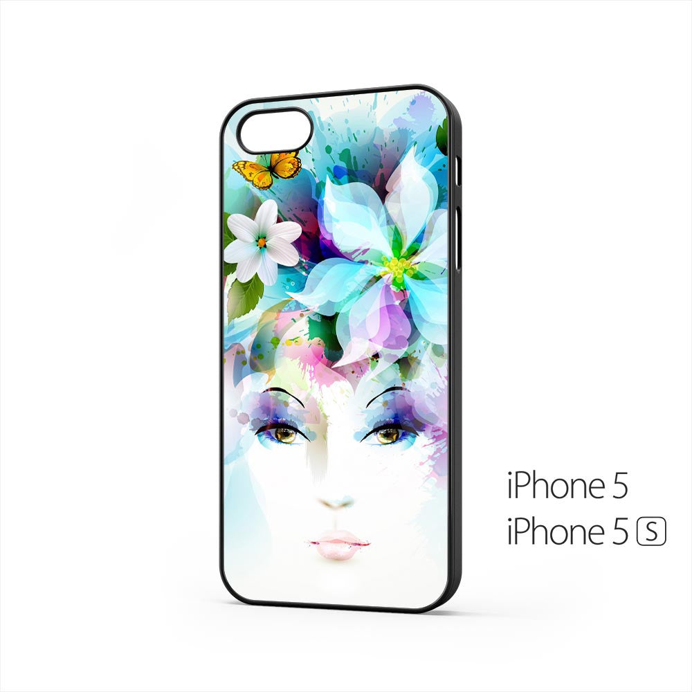 Girl Eyes Flowers Petals iPhone 5 / 5s Case