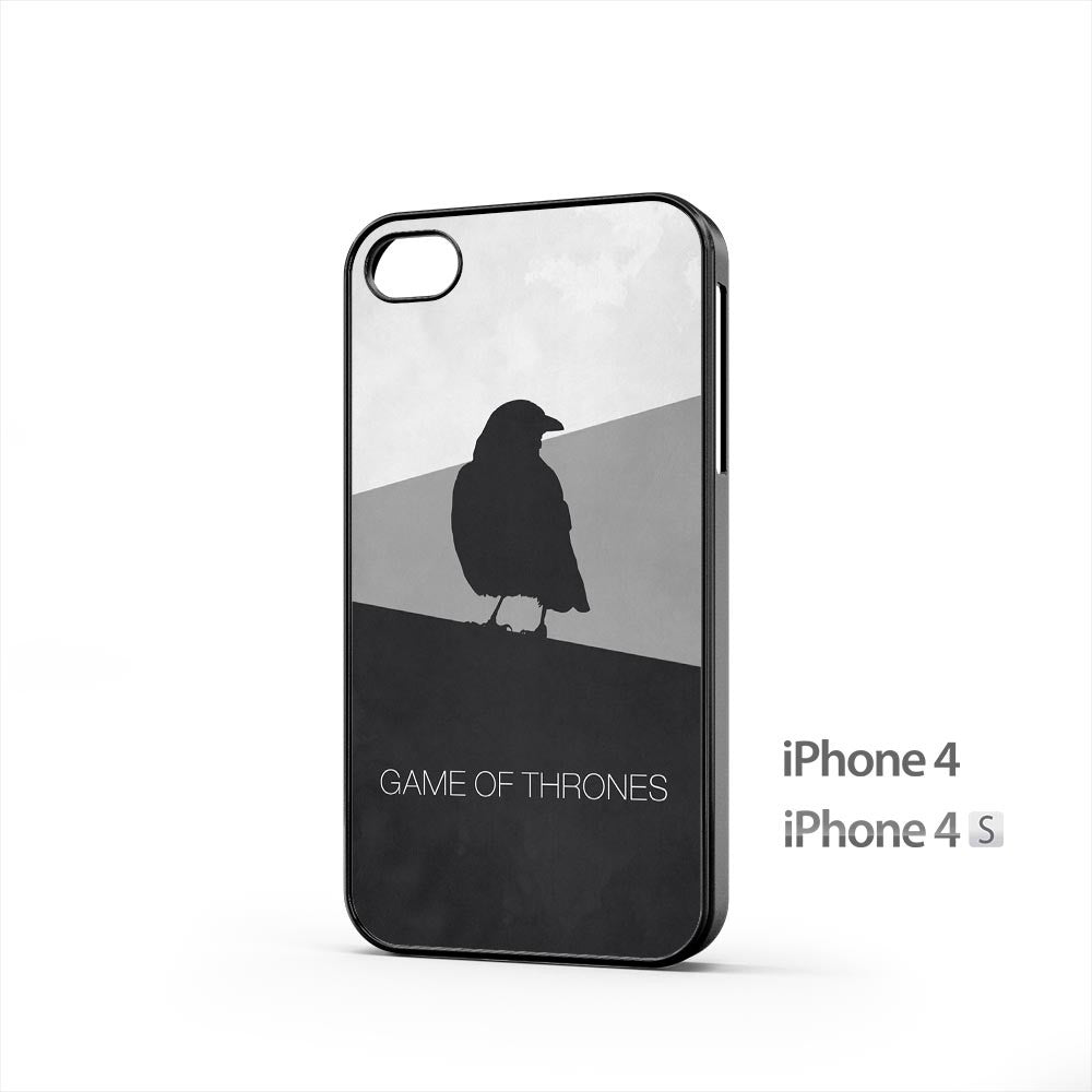 Game Of Thrones Minimal Raven iPhone 4 / 4s Case