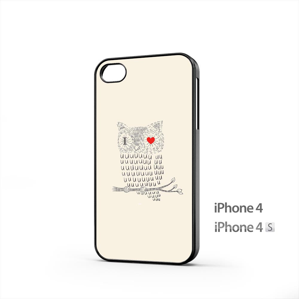 I Love You Owl iPhone 4 / 4s Case