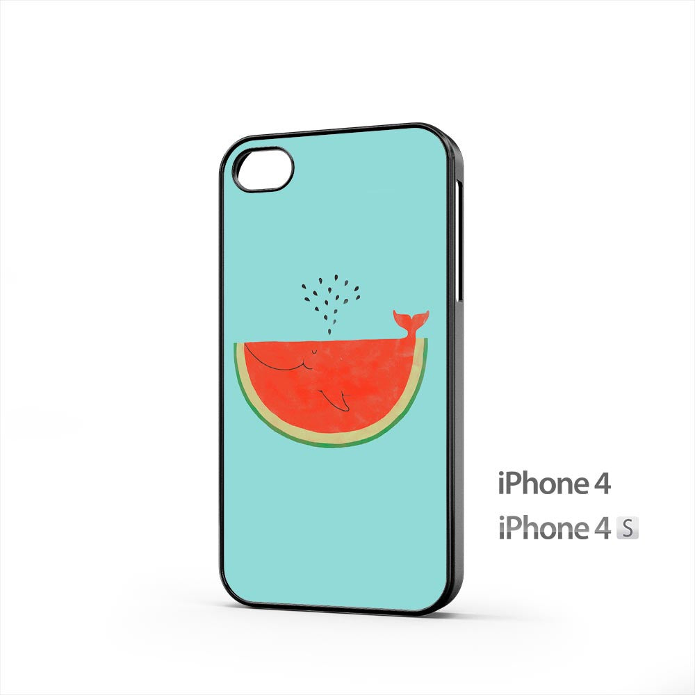 Watermelon Whale iPhone 4 / 4s Case