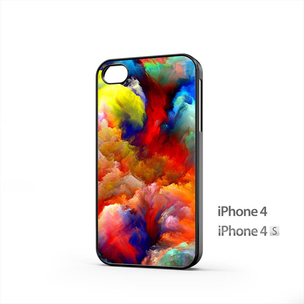 Oil Painting Colorful Strokes iPhone 4 / 4s Case