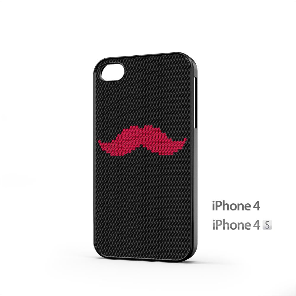 Pink Mustache iPhone 4 / 4s Case