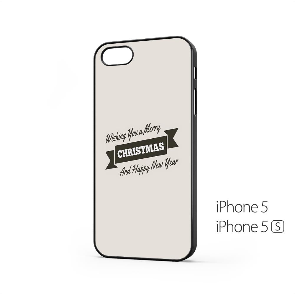 Merry Christmas Happy New Year Ribbon iPhone 5 / 5s Case