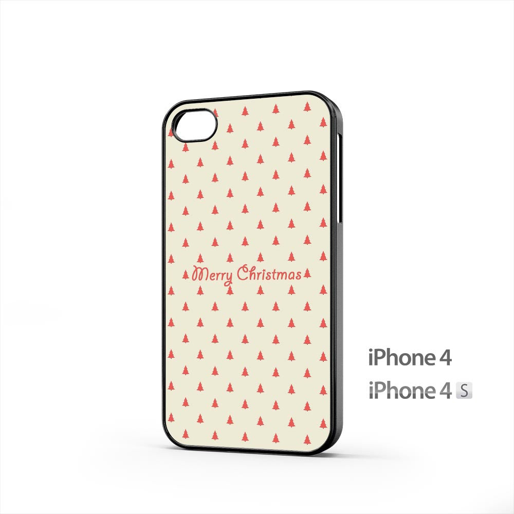 Merry Christmas Simple Trees iPhone 4 / 4s Case