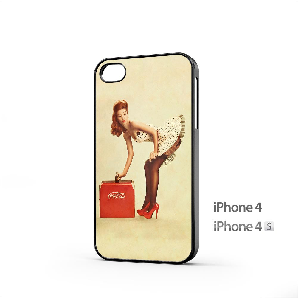 Coca Cola Pin Up Girl iPhone 4 / 4s Case