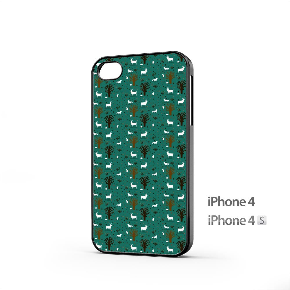 Forest Trees Deer iPhone 4 / 4s Case