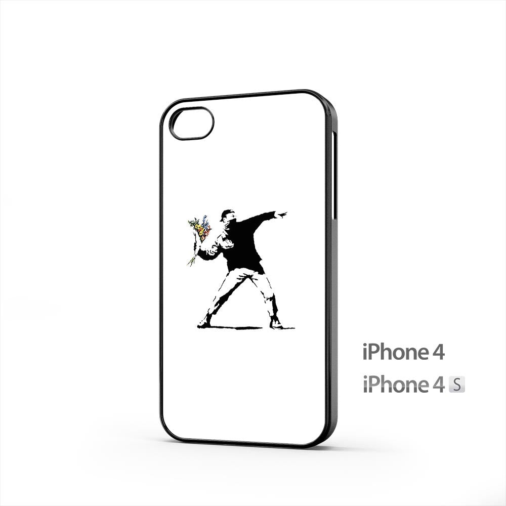 Banksy Flower iPhone 4 / 4s Case