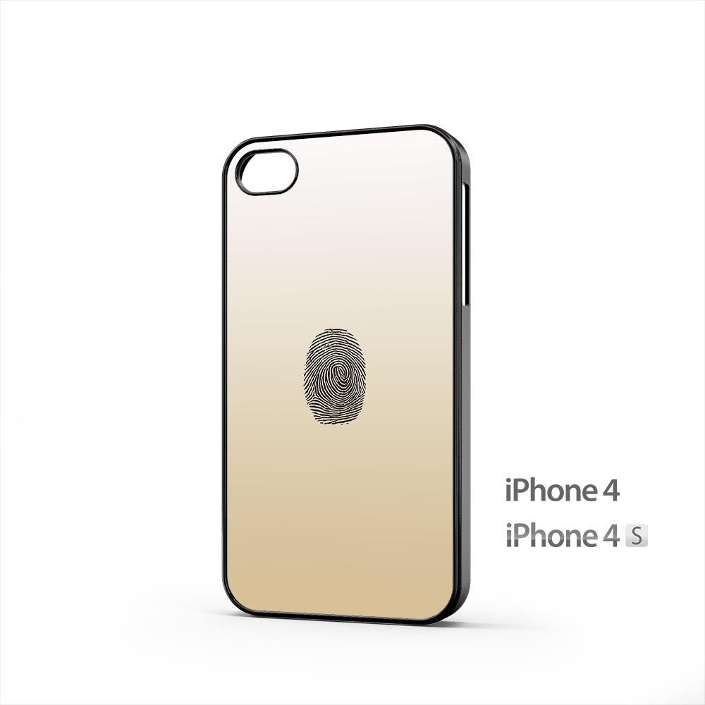 Gold Fingerprint iPhone 4 / 4s Case