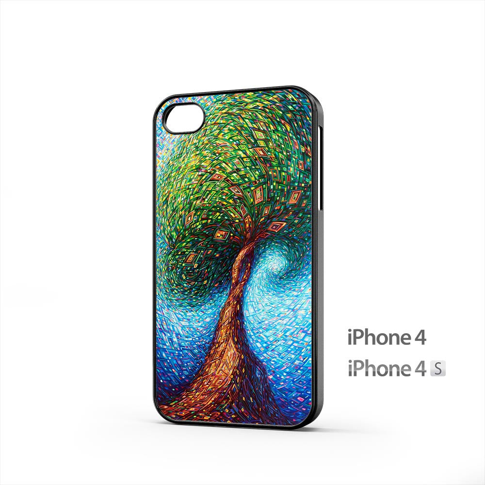 Colorful Tree Art iPhone 4 / 4s Case