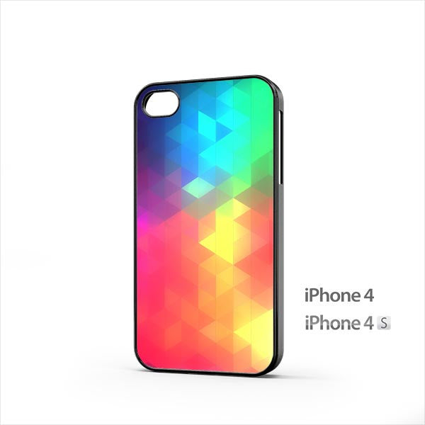 iOS8 Color Triflat iPhone 4 / 4s Case