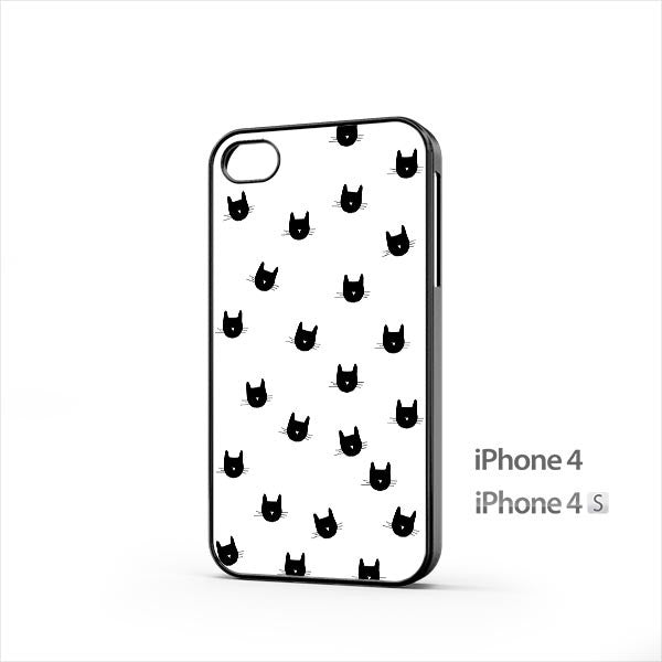 Cute Cat Head iPhone 4 / 4s Case
