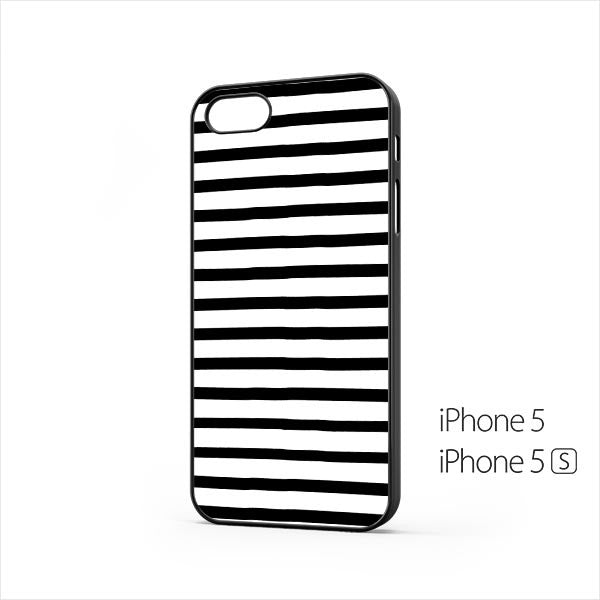 Black White Stripes iPhone 5 / 5s Case