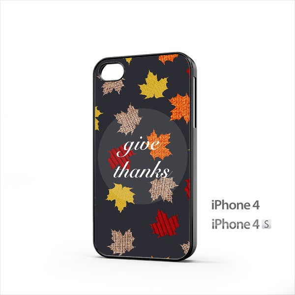 Give Thanks Autumn iPhone 4 / 4s Case