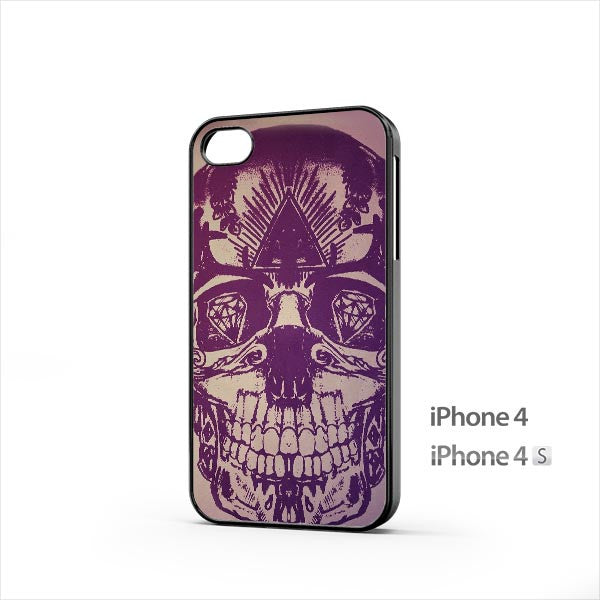 Skull Artwork Purple iPhone 4 / 4s Case