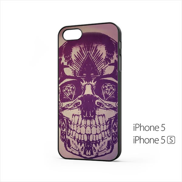 Skull Artwork Purple iPhone 5 / 5s Case