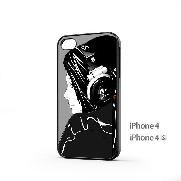 Girl Skull Headphone iPhone 4 / 4s Case