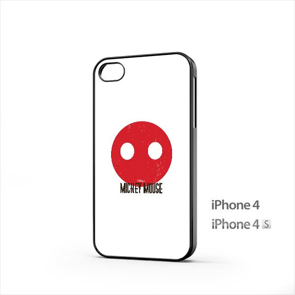 Mickey Mouse Minimal Circle iPhone 4 / 4s Case