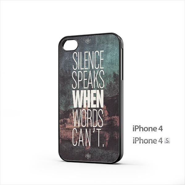 Silence Speaks iPhone 4 / 4s Case