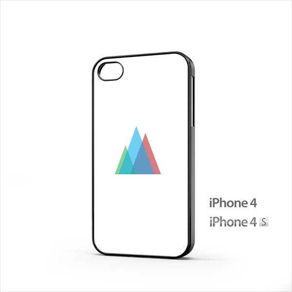 Simple Colored Triangles iPhone 4 / 4s Case
